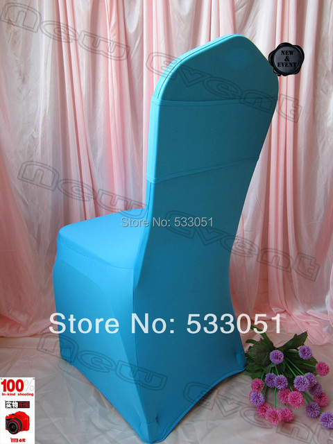 Ordinaire (210g/m2 ) Turquoise Spandex Chair Cover / Lycra Chair Cover With Single  Layer