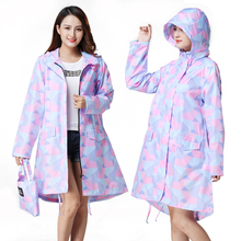 Yuding Colored Geometric Printing Raincoat for Women Impermeable Polyester Rainwear Hooded Tour Lady\girls\adults\woman