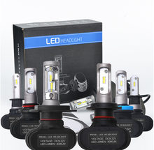 1Set S1 Car Led Headlight H1 H3 H4 H7 H8 H11 H13 9004 9005 9006 9007 880 881 Car Auto Fog Lamp 50W 8000LM Automobile Bulb 6500K(China)