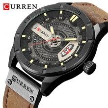 2021 Luxury Brand CURREN Mens Watches Waterproof Military Sports Men Watch Quartz Clock Man Leather Wristwatch Relogio Masculino