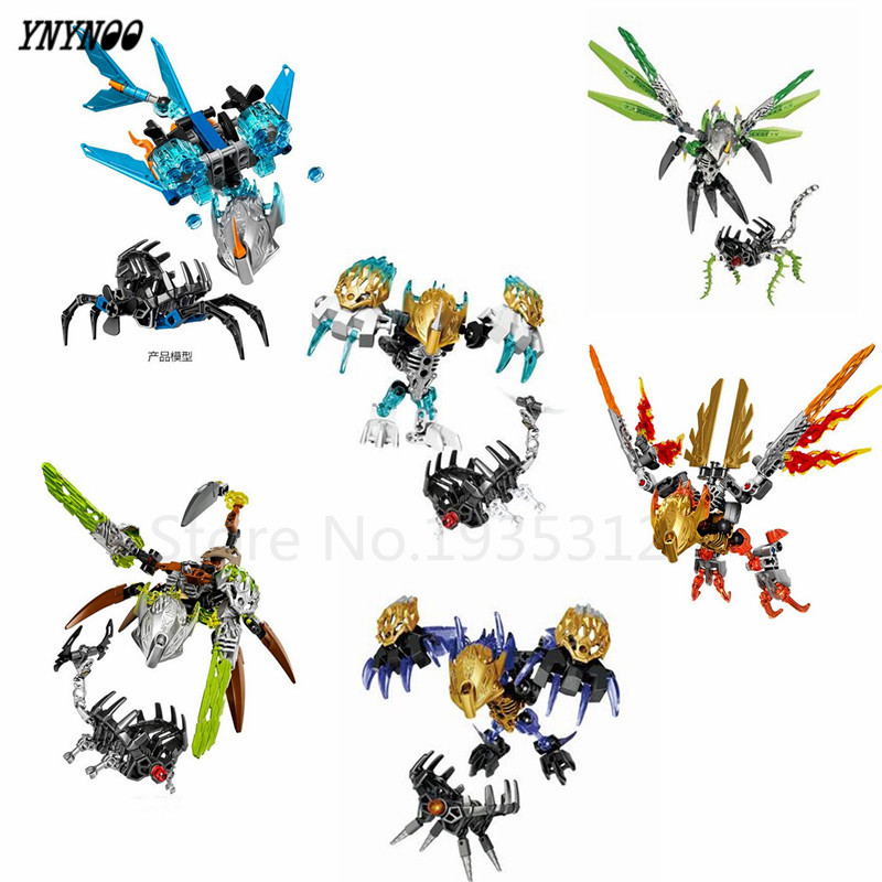 YNYNOO BIONICLE series XSZ Ikir Ketar Akida jungle Rock Water Earth Ice Fire protecto action Building Block Toys LR-689 цена