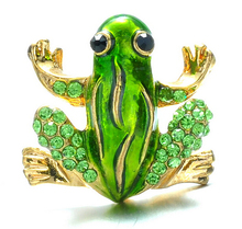 Frog Brooches Fashion Jewelry Accessories Brooch For Girl Vintage Lovely Crystal Rhinestone Scarf Pins Brooches For Women