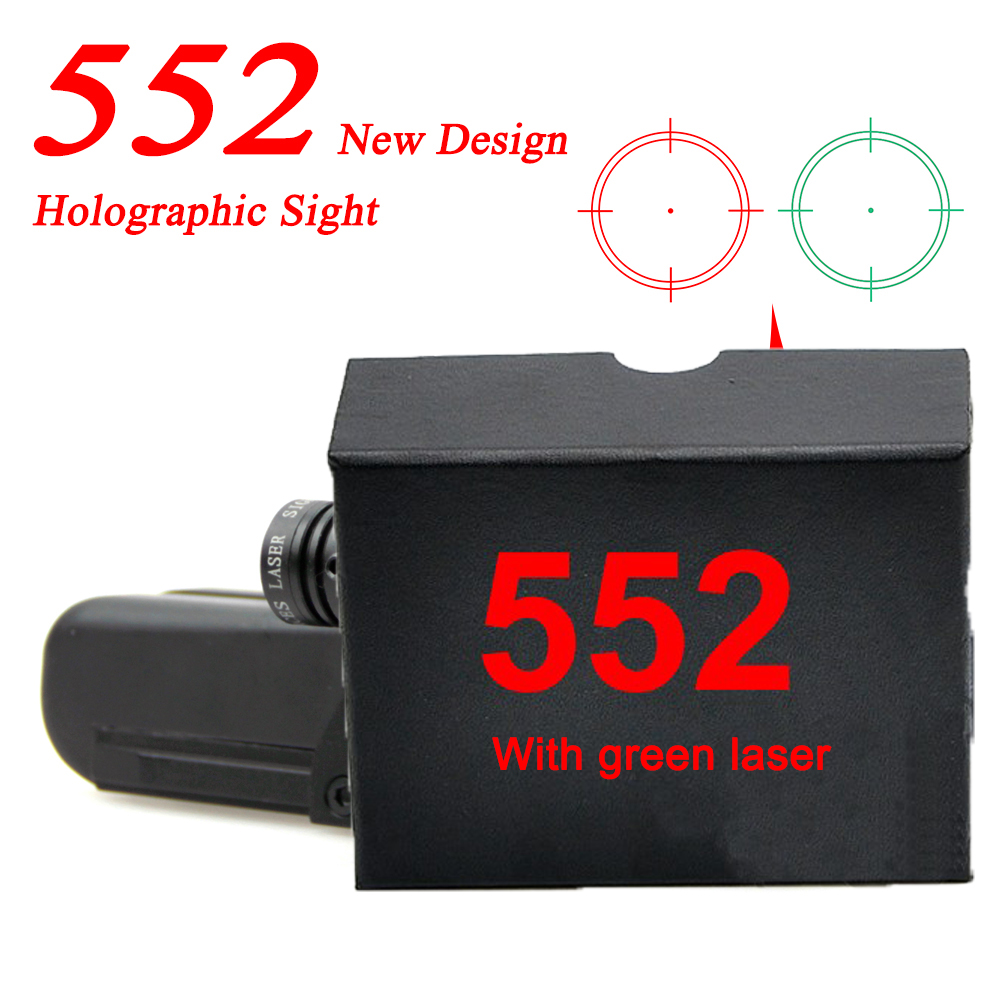 Spike Tactical Hunting 20mm Dovetail Holographic Sight 552 553 Reflex Scope Red Dot with Green Laser For AR15 Gun samsung rs 552 nruasl