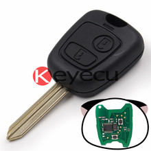 Keyecu KYDZ Remote Key Fob 2 Button 433MHz ID46 Chip for Peugeot Partner Expert Boxer SX9 Blade With Logo