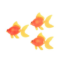 Best Gift 3pcs/lot Swimming Gold Fish Toy NEVER DAMAGE for Tank Aquarium Ornament Home Decor Children Kid Favorite(China)