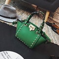 Bailar мода женщин кожаная сумка плеча сумки класса люкс дизайнер заклепки сумки известного бренда Замок высокое качество кошельки