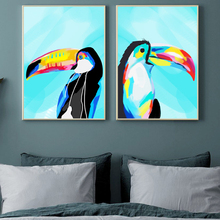 Toucan Bird Posters And Prints Nordic Poster Wall Art Canvas Painting Wall Pictures For Living Room Canvas Art Home Decoration nordic bird canvas art prints and posters monochrome canvas painting wall art picture for living room home decor