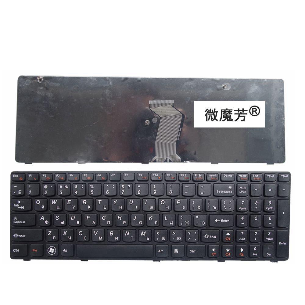 מקלדת חדשה עבור LENOVO G580 Z580A G585 Z585 G590 Z580 RU מקלדת ניידת