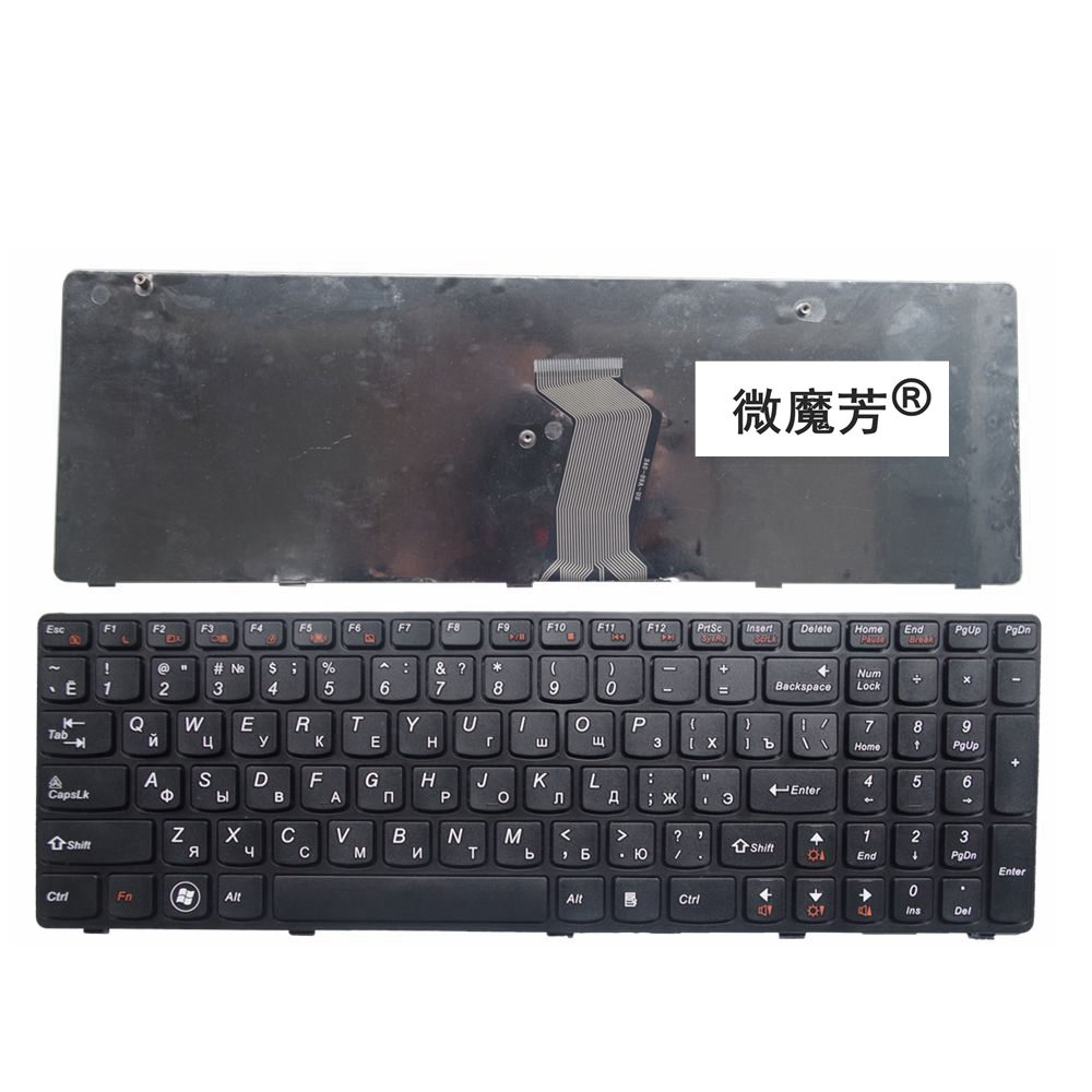 Tastierë laptopë RUSI PboardR LENOVO G580 Z580A G585 Z585 G590 Z580 RU