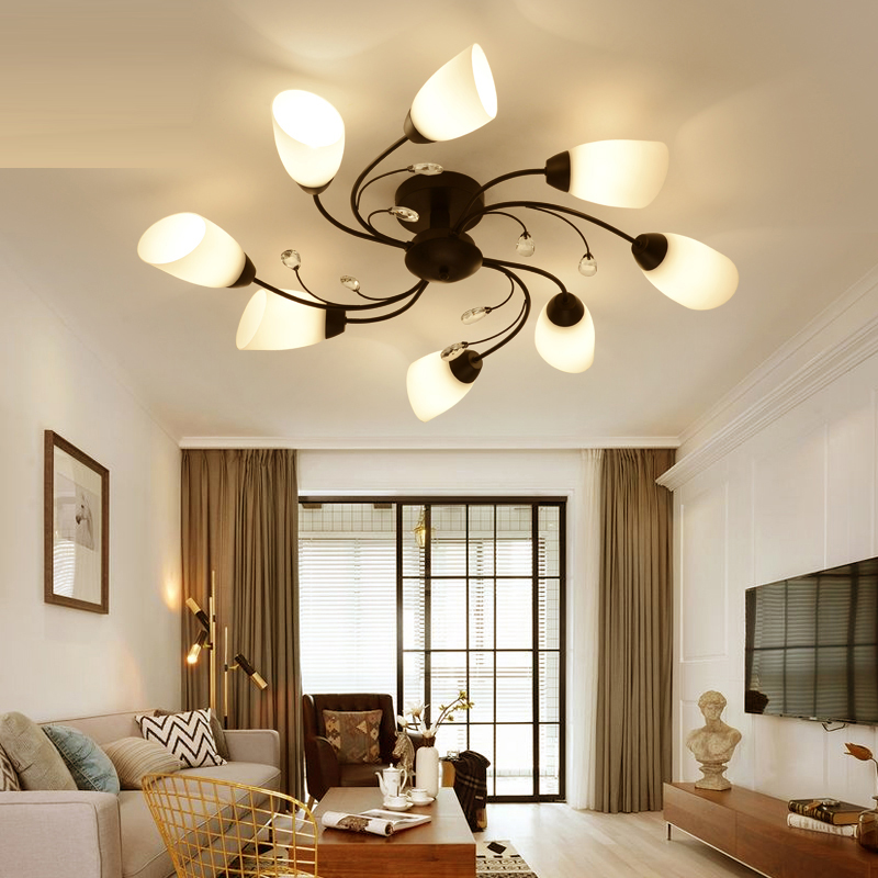 creative living room lamp modern simple led ceiling light american bedroom restaurant ceiling