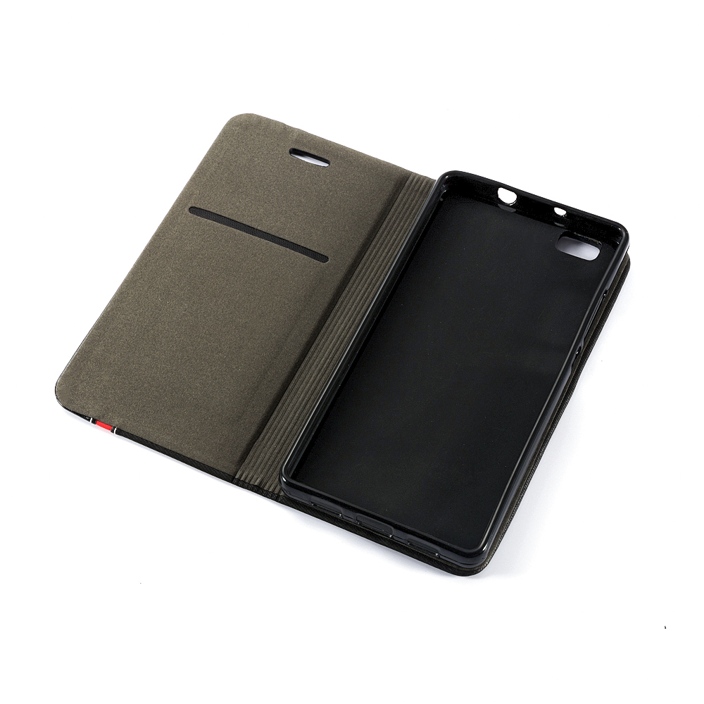 Business Book Case For Huawei P8 Lite 2015 Vintage Pu Leather Wallet Case For Huawei P8 Lite 2015 Soft Silicone Back Cover