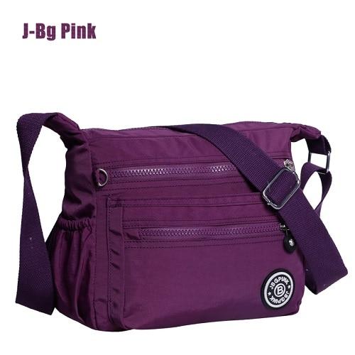 Women Nylon Handbag Brand Monkey Kipled J Bg Pink Original font b Bag b font Sac