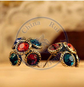 Stud Earrings ear rings Fashion for women Girls lady colorful cystal rhinestone vintage design CN post