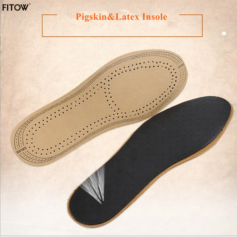 New Arrival Unisex Pigskin and Latex Insoles Soft Leather Cuttable Size Shoe Pads Shock Absorption Shoe Cushion 5 pairs slica gel silicone shoe pad insoles women s high heel cushion protect comfy feet palm care pads accessories