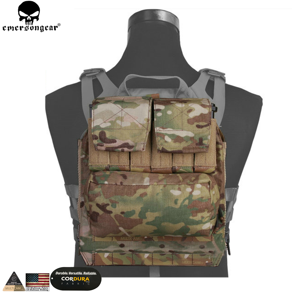 EMERSONGEAR Back Pack Zip on Panel For AVS JPC 2.0 CPC Vest Hunting Airsoft Paintball Combat Backpack Multicam Black  EM9286 rustica mini noce slate 12 in x 12 in x 8 mm porcelain mosaic tile backsplash images