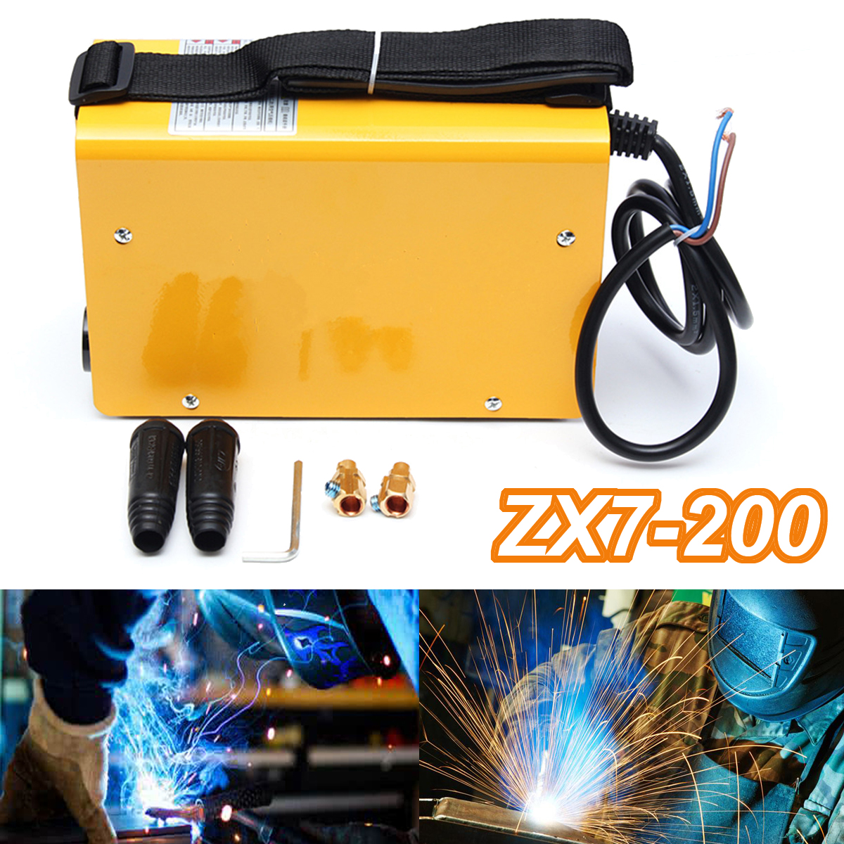 ZX7-200 40W Mini Electric Welding Machine Portable Solder 220V 10-200A IGBT Inverter Air Cooling Soldering Tool Welding Working
