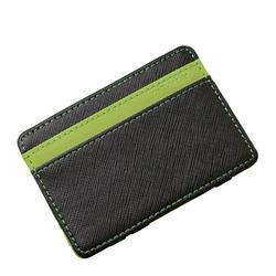 Удобный ID карман Банк Кредит Card Case Тонкий волшебный кошелек Для мужчин чехол для наличных Держатель карты Дизайнер Организатор