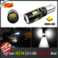 2pcs  White 3893 Error Free High Power CRE'E LED 4-SMD BAX9S H6W Parking Light Back Up, Backup Reversing Brake Lights Bulb