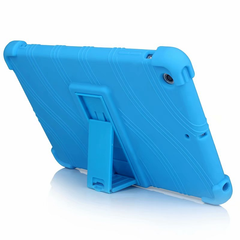 Silicone case for ipad mini 3 mini 2 cover soft rubber tablet case with moive stand coque para for Apple ipad mini 7 9 inch in Tablets e Books Case from Computer Office