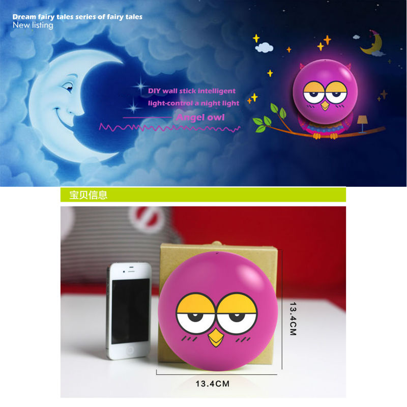 3m creative cute 3d wall stickers diy with plug led night lights