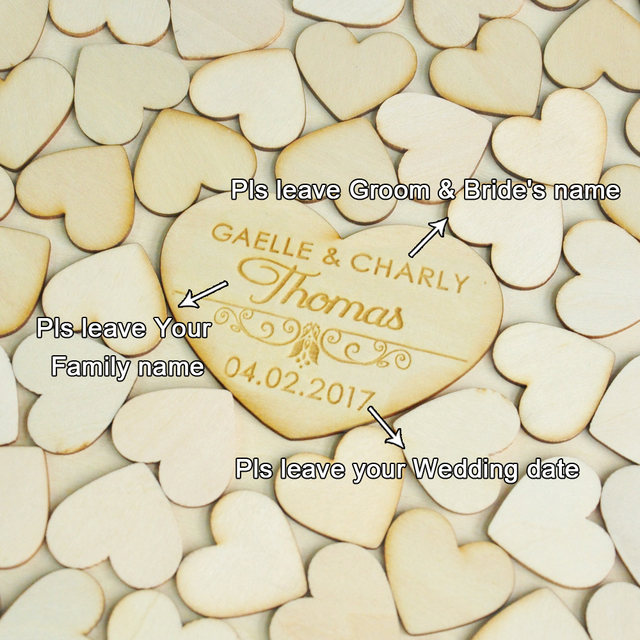 personalised wedding guest book alternative wood heart guest book custom drop top guestbook