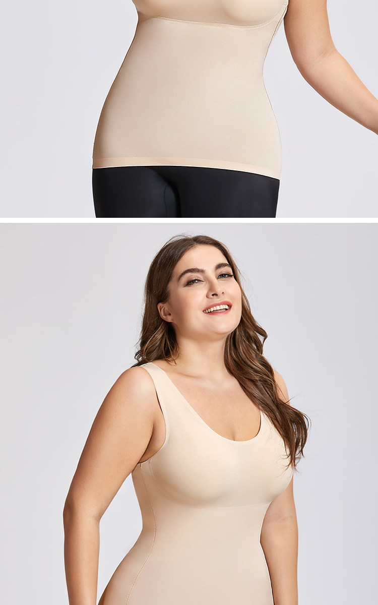 High Waist Shapewear For a smooth look through your mid-section, choose a high waist shaper or a waist cincher. You'll find brief styles and thigh slimmer styles. Most extend to just below the bra line.