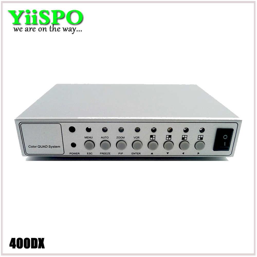 YiiSPO 4CH Color de vídeo Digital a Color del divisor del procesador de sistema de CCTV Kit de conmutador de Metal con 4in 2out adaptador BNC
