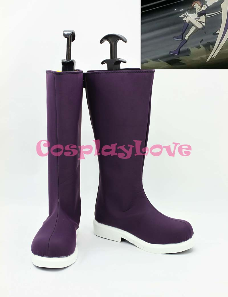 D.Gray-man Four Purple Cosplay Shoes Boots Hand Made Custom-made For Halloween Christmas CosplayLove