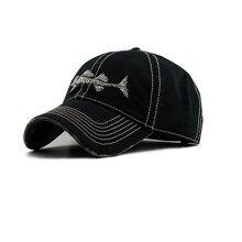 SexeMara 2017 Men And Women Baseball Cap Spring/summer Cotton Comfortable Casual Hat Fish Bone Embroidery Baseball Cap