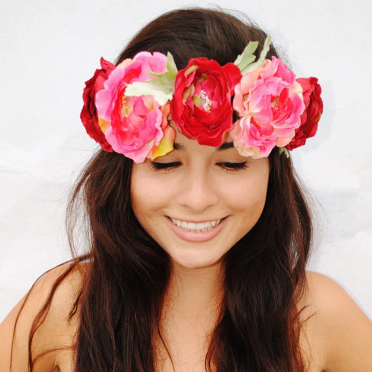 Frauen Stirnband Braut Blumen Stirnband Hochzeit Strand Blume Crown