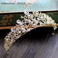 Luxurious rhinestone wedding tiara 2017 for marriage rhinestone bridal crown ,crystal wedding crown bridal crown