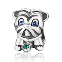 925 precioso perrito lindo perro animal diseño Cuentas pulsera apta del encanto DIY joyería diseño único para los regalos