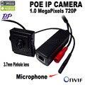 720 P mini p2p onvif poe cámara ip mini Micrófono mini cámara estenopeica vigilancia POE ip Con POE externa Power Over Ethernet