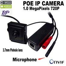 720 P mini poe ip caméra mini Microphone onvif p2p mini ip sténopé caméra POE surveillance Avec externe POE Power Over Ethernet