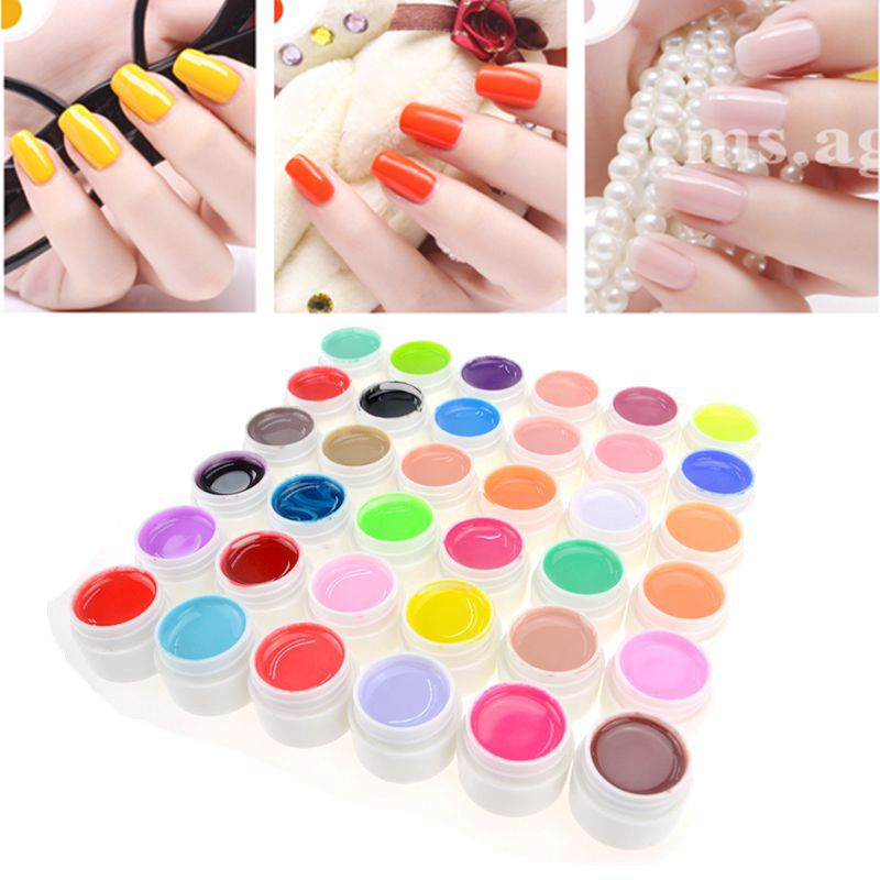 ᗑbeau Gel 1pcs Nail Art Painting Painting Lacquer Gel Pure Color Color Semi Permanent Nail