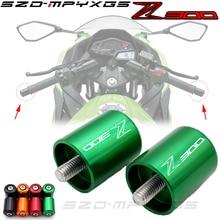 Motorcycle Accessories CNC Handlebar Grips Bar Ends Cap Slide For Kawasaki NINJA 300R Z300 Z 300 2013 2014 2015 2016