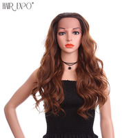 24inch Lace Front Body Wave Wig Women Heat Resistant Synthetic Wigs Grey Long Hair Wig Party Wig Hair Expo City