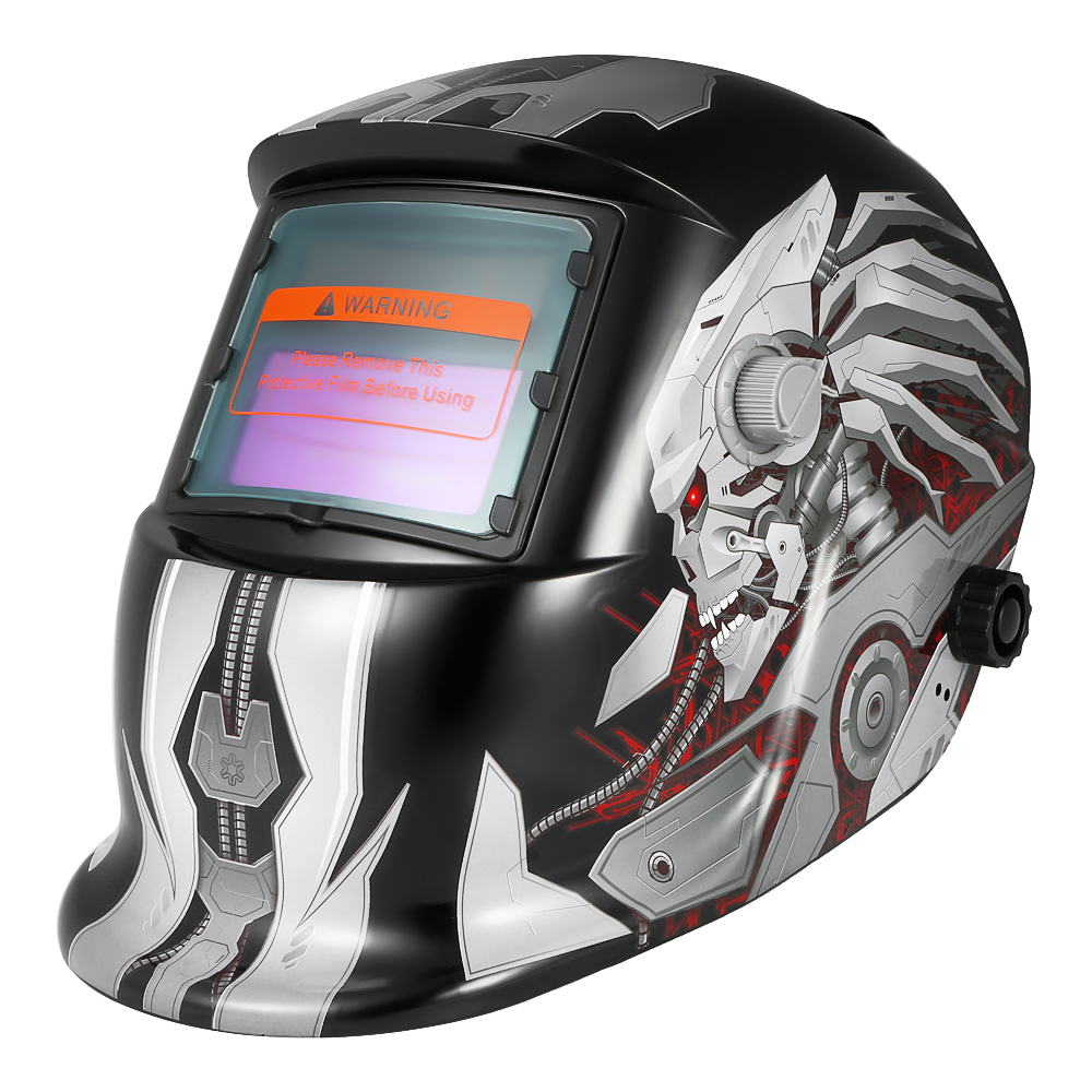 Professional Solar Energy Auto Darkening Electric Welding Helmets Welding mask Welder Cap TIG MIG Grinding Mask Robot Style new materials free post electric welder mask auto darkening mag tig grinding function polished chromed