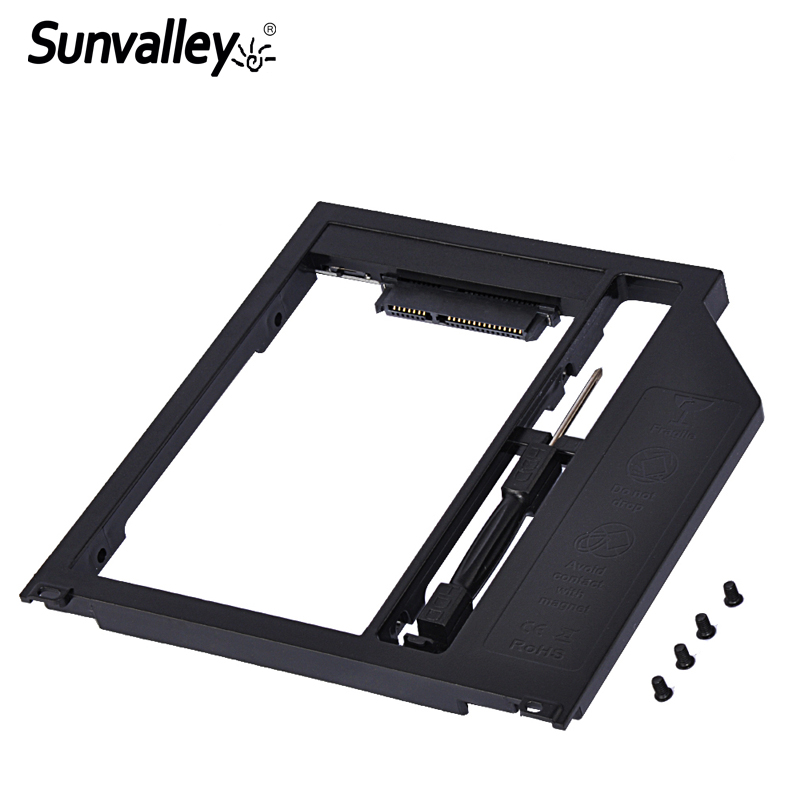 Sunvalley 9.5mm Plastic 2nd HDD Caddy SATA To SATA 3 2.5