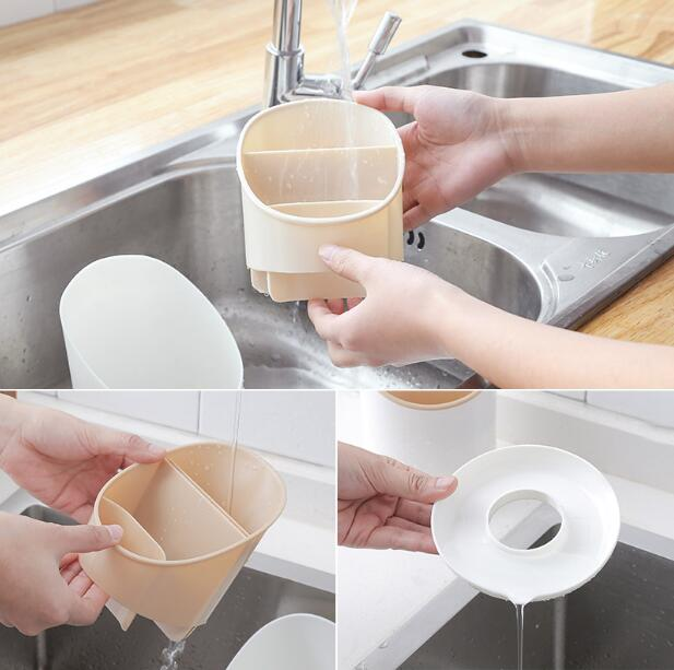 Chopsticks tube drain multifunctional shelf tableware storage in Storage Holders Racks from Home Garden