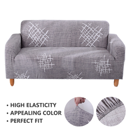 Forcheer Stretch Sofa Cover Geometric Stripe Printing Protective Sofa Cover for Living Room 1 PC
