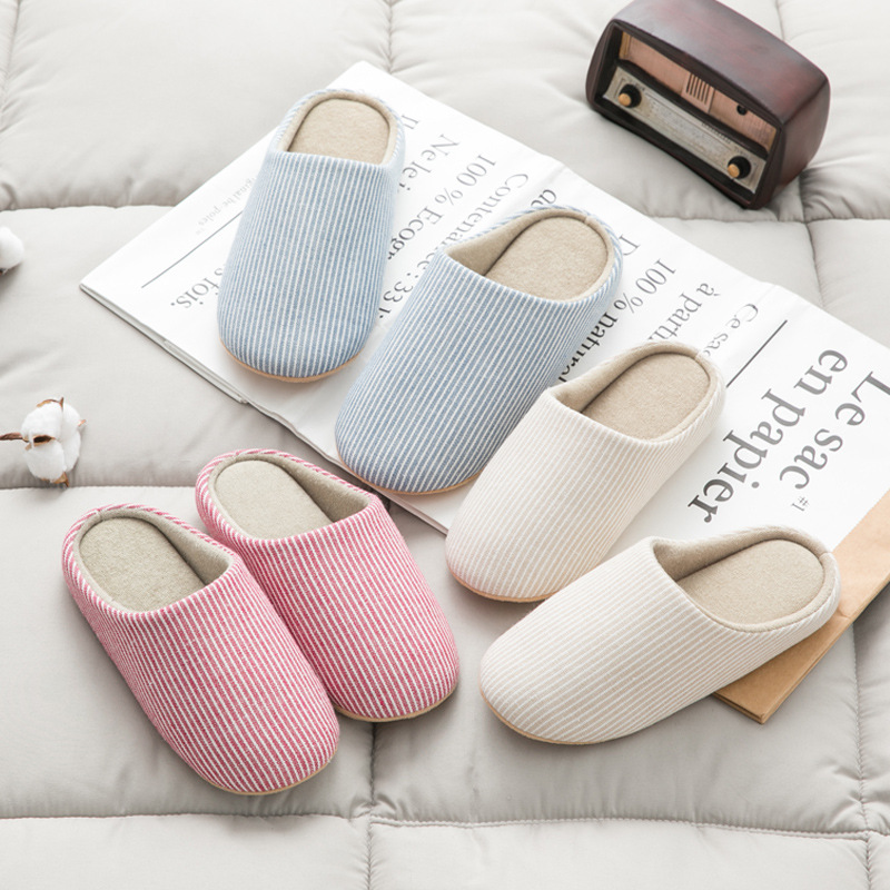 fd4a162d61e Christmas Winter Home Slippers Women Cotton Linen Flip Flops Home Shoes  Woman Anti slip Slides Indoor Slippers Pantoufle Femme -in Slippers from  Shoes on ...