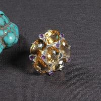 #6,5 #7 #8 ручной работы непальское 925 Серебряное кольцо тибетское кольцо из стерлингового серебра 925 Серебряное желтое богемное женское кольцо