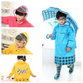 New Upgraded Fashion Kids Rain Coat Transparent Large Brim Three Colors Children with Schoolbag Bit Raincoat (S, M, L, XL, XXL)