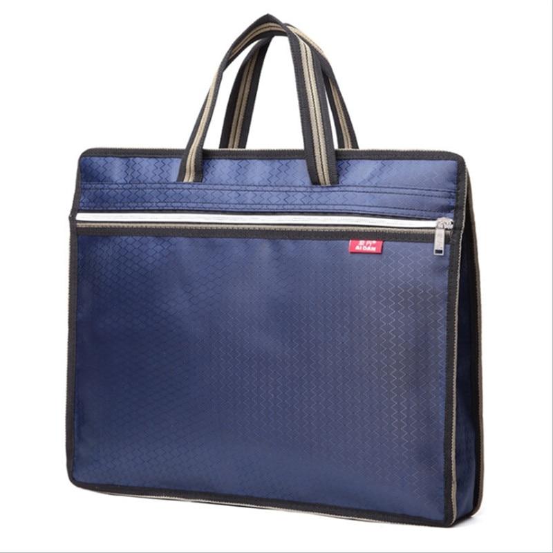 Men's Bag Briefcase Business Waterproof Pouch Office Bags For Men Computer Laptop Portable File Oxford Man Handbag