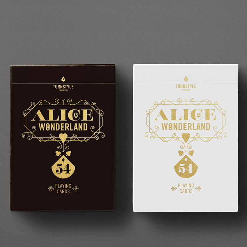 Alice in Wonderland Original 1PCS New Sealed Playing Card Deck TURNSTYLE Poker Magic props Magia Tricks white color in stock original 1pcs 2sk182 goods in stock