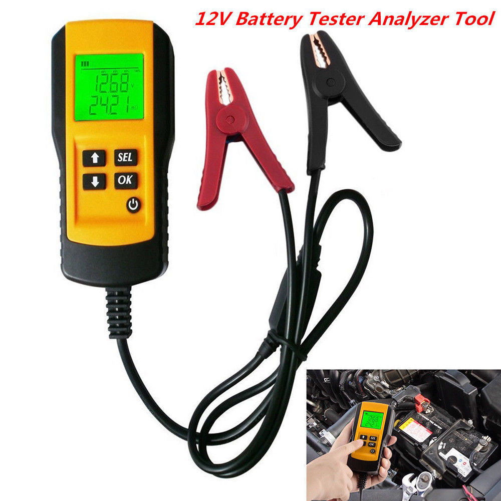 SEESII AE300 12V LCD Display Car Vehicle Digital Battery Tester Analyzer Tool Checker Professional ancel ba101 car battery tester 12v digital analyzer 2000cca 220ah with japanese korea multi languages bad cell test car tools