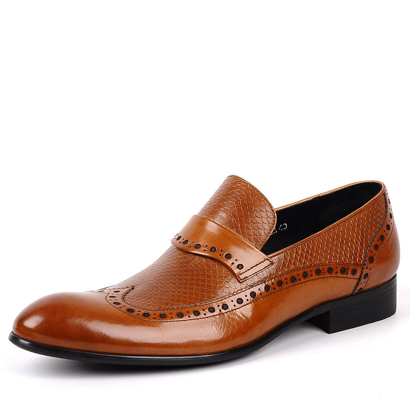 7a03e28216f Sipriks Luxury Mens Wingtip Dress Shoes Slip On Light Brown Designer Loafers  Elegant Boss Leather Loafers Mens Moccasin Slippers-in Formal Shoes from  Shoes ...