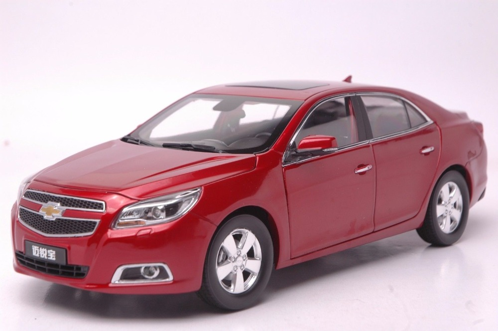 Rare Diecast Model For Chevrolet Chevy Malibu Red Alloy Toy Car Collection Gifts