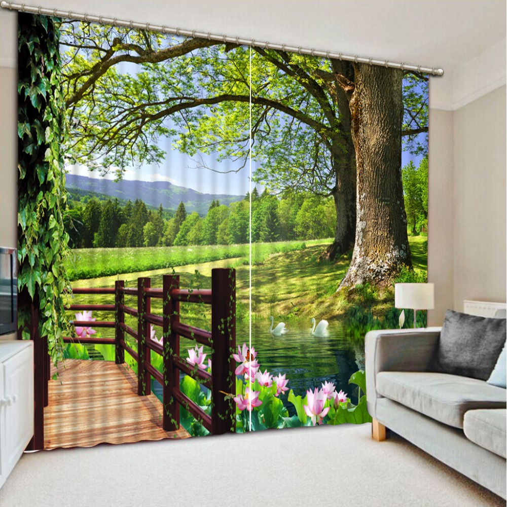 Curtain For Balcony: Aliexpress.com : Buy Modern Sheer 3D Curtains Landscape